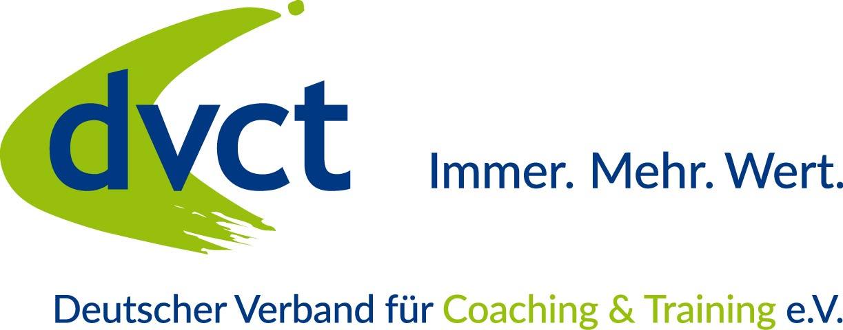 Stefanie Normann von Normann Consulting ist Mitglied als Trainer und Coach im Branchenverband dvct Deutscher Verband für Coaching und Training e.V. (abgebildetes Logo)